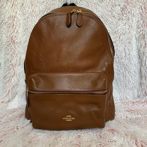 Coach Brown Leather Charlie Backpack Large